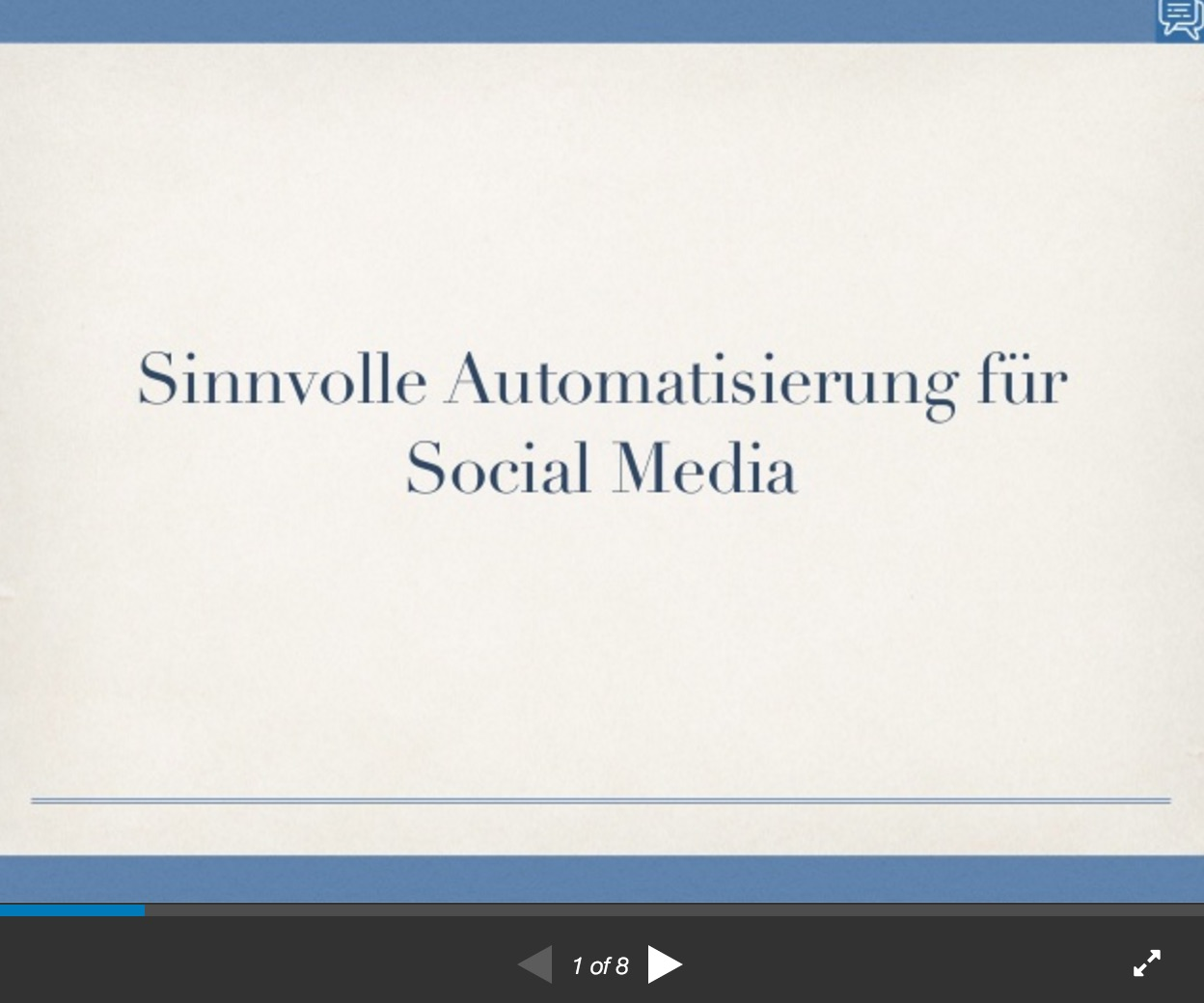 Automatisierung Slideshare
