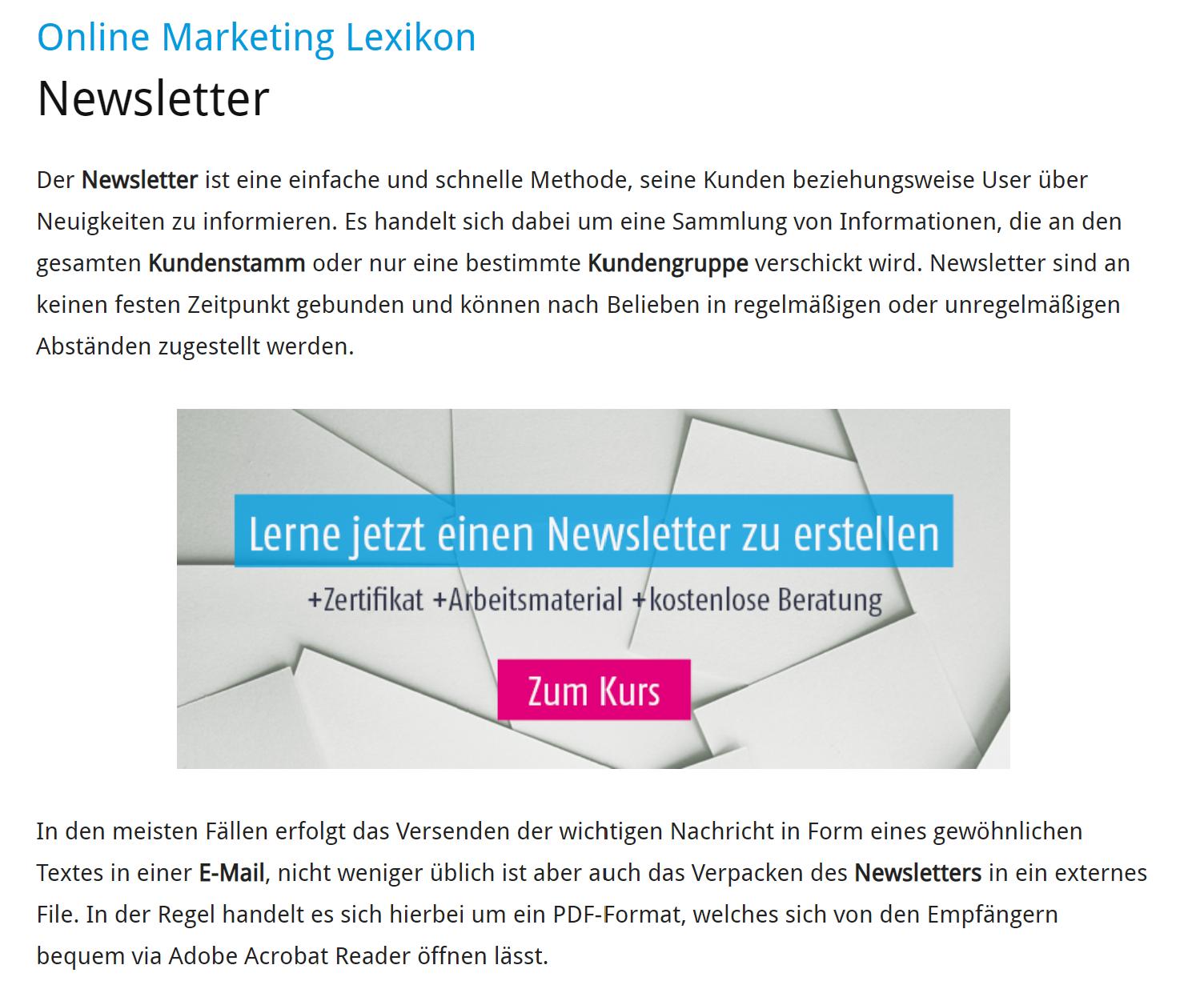Newsletter In Zeiten Von Social Media Mehrwert Oder