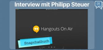 Interview zum Snapchatbuch mit Philipp Steuer