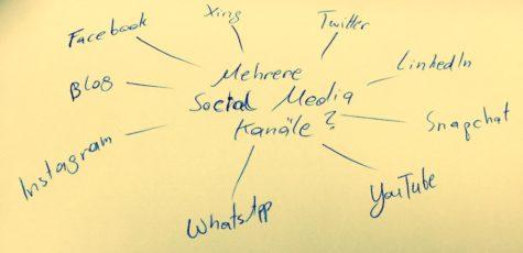 Mehrere Social-Media-Kanaele