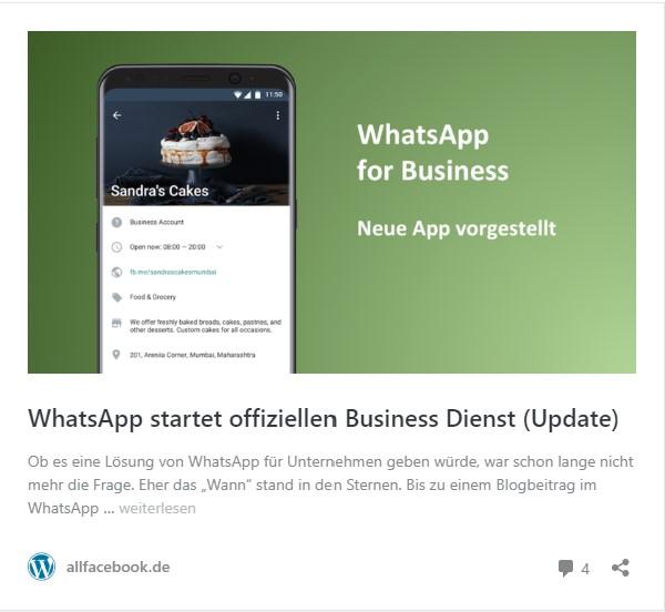 WhatsApp startet offiziellen Business Dienst.