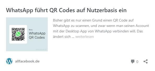 QR Codes auf Nutzerbasis in WhatsApp